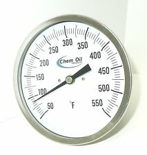 "THERMOMETER EVERY ANGLE 5"" FACE 2.5"" STEM 50-550F 942K5"