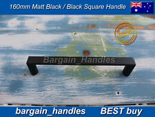 Kitchen cabinets door Black Square D-Square handles pullers 40x160mm Best buy
