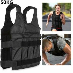50KG Gewichtsweste Trainingsweste Atmungsaktiv Fitnessweste Füllbar gewichtswest