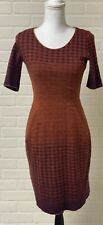 Catherine Andre Sweater Dress Fits Small Houndstooth Front Pocket Wool Blend SS