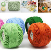 50g Lace Cotton Wool Yarns 3 Ply Hand Knitting Crochet Line Embroidery Threads