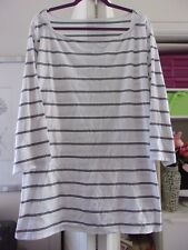Soft & Comfortable AVA & VIV Striped Stretch Cotton Top-Size 4X-EUC