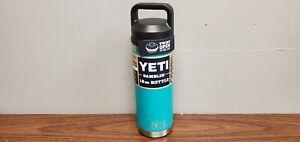 Yeti Rambler 18oz Bottle W/ Twist Open Chug Cap Aquifer Blue New READ