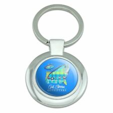 Gulf Stream Outfitters Yellowfin Fish Classy Round Plated Metal Keychain