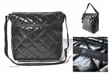 LeSportsac Black Crinkle Patent Quilted Small Cleo Crossbody Bag Free Ship NWT