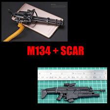 "1/6 1:6 12"" Action Figure Weapon Model M134 Minigun Gatling Machine Gun + FNSCAR"