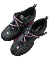 SKECHERS Bikers Athletic Shoes Sneakers  Youth GIRLS Size 4 Black Hot Pink New