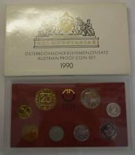 GN333 - Österreich Kursmünzensatz 1990 PROOF KMS Original Coin Mint Set