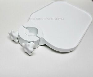 TPC POLE POST MOUNT UTILITY ACCESS SHELF TRAY TABLE DENTAL MEDICAL WHITE