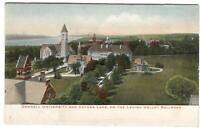 Postcard Cornell University + Cayuga Lake Lehigh Valley Railroad NY