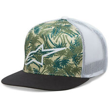 Alpinestars NEW Mx Vacation Palm Trees Hat Mens Black White Snapback Trucker Cap