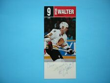 1992/93 VANCOUVER CANUCKS TEAM ISSUED HOCKEY PHOTO #9 RYAN WALTER AUTO AUTOGRAPH