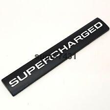 Black White Supercharged Engine Sticker Decal Bumper Emblems Fender Badge Logo