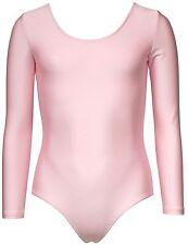 body per danza maniche lunghe REPETTO D036, rosa in 10/12 ans