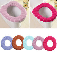Washable O Shaped Toilet Seat Cover Thicken Polyester Warmer Useful Case