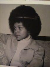 Beautiful African American Female big Afro