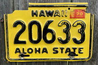 1970 HAWAII LICENSE PLATE MOTORCYCLE #20633