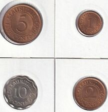 Mauritius • 1969 • 1, 2, 5, 10 cents • Set of 4 uncirculated coins