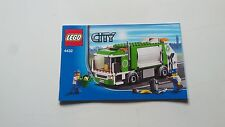 LEGO CITY !! INSTRUCTIONS ONLY !! FOR 4432 GARBAGE TRUCK