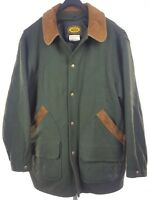WOOLRICH Classic Mens Green Field Jacket Coat Large L VTG USA Wool/Nylon