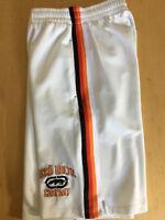 M 32-34 Vintage Ecko Unltd. Men's Practice White - Striped on Sides Long Shorts