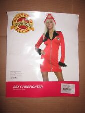 Womens SEXY FIREFIGHTER  Halloween Costume sz M Md Med / L Lg Hollywood Style