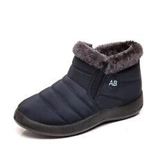 Womens Warm Snow Boots Winter Anti-Slip Ankle Fur Lining Waterproof Winter Shoes