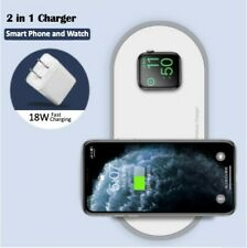 2 in 1 Wireless Charger For iPhone X Xs Max XR Apple Watch 432 and Samsung
