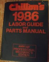 Chilton's Cars and Light Truck Service Manual 1986