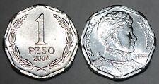 2004 Chile 1 Peso Coin Unc Nice BU KM# 231
