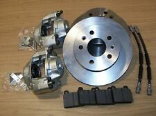 Brake discs, Calipers (Genuine), Hoses, Pads & Fitting kit front VW T2 73-79