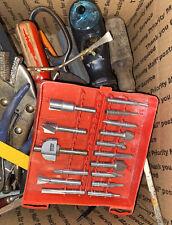 Box tools lot, Used hand tools, screwdrivers, pliers, De Walt Lufkin Craftsman