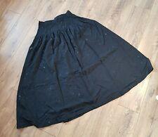 Monsoon Vintage Black Maxi Long Walking Steampunk Jack Skirt Fits modern 8 - 10