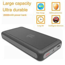 20000mah Mobile Powerbank  LED 2USB Externes Akku Ladegerät Für Smart Phone