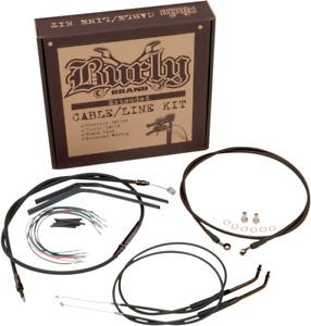 """Burly Extended Cable/Brake Line Kit for Ape Handlebars 16"""" FLST,C,F,N 00-06"""