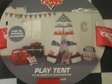 DISNEY CARS PLAY TENT BED CANOPY BLACK WHITE RED IN CARRY CASE NEW