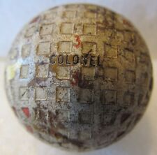 Vintage Used Square Mesh Golf Ball-The Colonel Match-Multi Marking Circa 1930'S