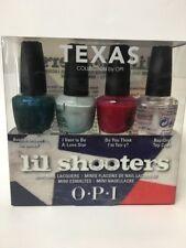 OPI Texas Lil Shooters Mini Nail Lacquers Polish 4 pc Set 1/8oz