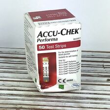 Accu-Chek Performa / 50 Glucose Test Strips / Check Blood Sugar Level / 02/2021