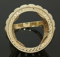 9 Carat Yellow Gold Bottle Top 1/2 Sovereign Ring Mount Size Q 9CT (80.18.490)