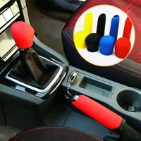 1 Set Manual Car Hand Brake Case Silicone Gear Head Shift Knob Cover Black