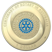 2021 $1 Centenary Of Rotary Australia Coloured Uncirculated Coin