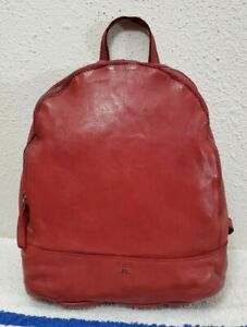 New Harbour 2nd Meghan Vintage Distressed Red Leather Women's Backpack