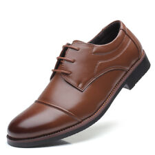 New Men's Oxfords Leather shoes Dress Formal Business Casual Round Toe Shoes
