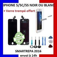 ECRAN LCD RETINA + VITRE TACTILE SUR CHASSIS IPHONE 5/5C/5S NOIR/BLANC + OUTILS