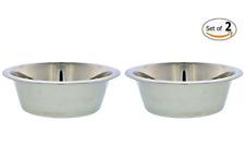 2 Pack Dog Bowls Stainless Steel Pet Cat Water Dish Large Puppy Vet Recommended