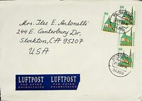 Germany West Bund Airmail Cover to USA 1993 (052)