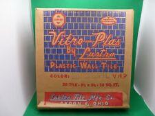 Vitro-Plas by Luster Vintage Plastic Wall Tiles - 20pcs - Mist Green NOS