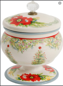 "New The Pioneer Woman Holiday Cheer Christmas 5"" Candy Dish with Lid"