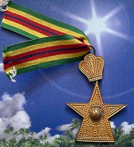 Äthiopien Orden Stern von Äthiopien Ritterkreuz Haile Selassie Ära am Band